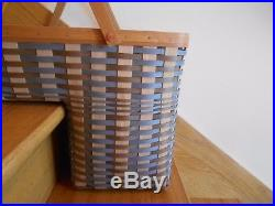 Longaberger Step-It-Up Basket Set Fieldstone weave 2016 host ex free shipping