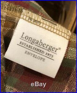 Longaberger Stuck on You Plaid Basket Set Desk Lot