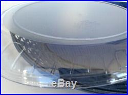 Longaberger Swoop Tray Protector & Triangle Dip Bowl Set Serving Basket Blue