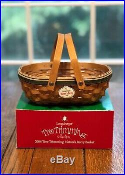 Longaberger Tree Trimming Basket Combos, Set of 9, 1999-2007