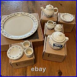 Longaberger USA Collectors Club Miniature Mini Tea Set with Cookie Jar and Boxes