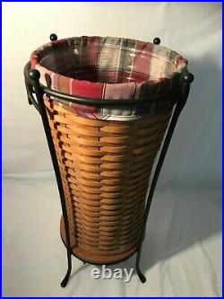 Longaberger Umbrella Basket Stand Combo Set