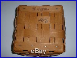 Longaberger WE REMEMBER 911 Basket Set. LID & Protector. NEW