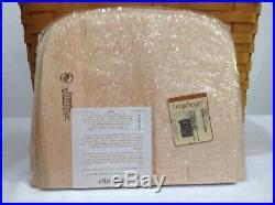 Longaberger WINE & CHEESE Picnic Basket Set +Cutting Board Lid+Protectors+Riser