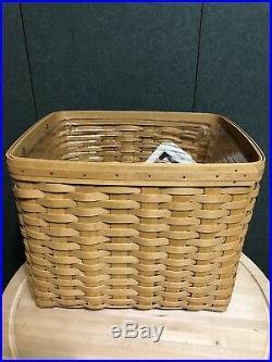 Longaberger Warm Brown Personal File Basket Set New