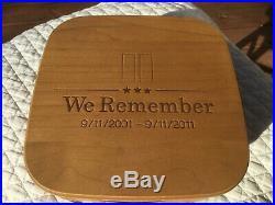 Longaberger We Remember 911 Basket Set With Lid & Protector