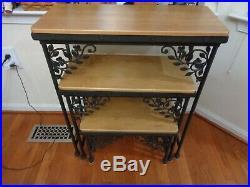 Longaberger Wrought Iron Dogwood Nesting Table Set Of 3 Tables Maple Shelves