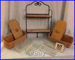 Longaberger Wrought Iron Envelope Mail Center Basket Set