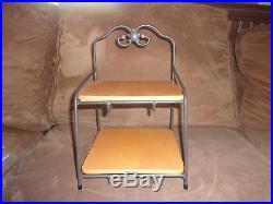 Longaberger Wrought Iron Little Bin Organizer Stand, Shelves, 2 Basket Sets Lids