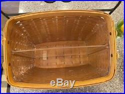 Longaberger Wrought Iron Newspaper Stand & Newspaper Basket Set Signed