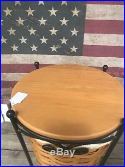 Longaberger Wrought Iron Umbrella Stand, Basket Set + Shelf