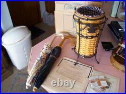 Longaberger basket JW Collection miniature complete umbrella set with orig. Box