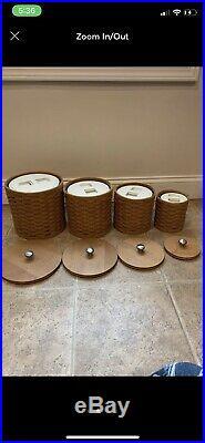 Longaberger canister set