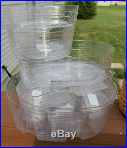 Longaberger collectors club Stacking Harmony BASKET SET OF 5 With PROTECTORS