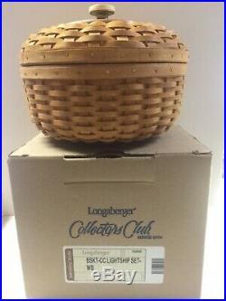 Longaberger collectors club lightship basket set