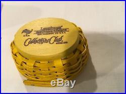 Longaberger collectors club miniature Peep Basket Set