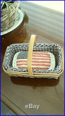 Longaberger miniature basket collection. Set of three with liners & protectors