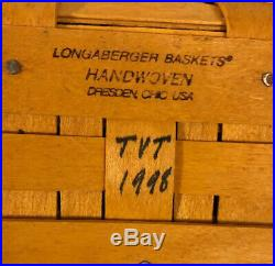 Lot Of 3 LONGABERGER Sleigh Basket Sets Baskets, Liners, & Sleigh Runners