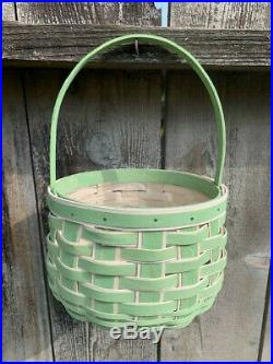 NEW Longaberger 2018 Green Easter Basket Sets with Custom Liner