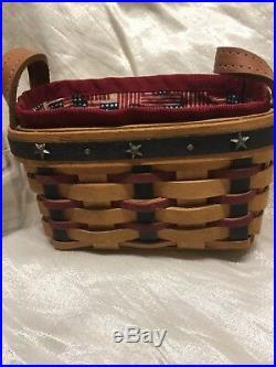 New Longaberger Collectors Club Proudly American Basket Salt &Pepper Shakers Set