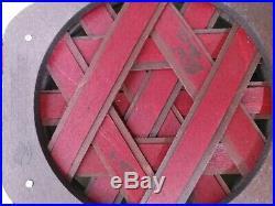 RARE Longaberger Set of Stacking Baskets With Wood Lids