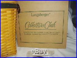Saddlebrook Purse Basket Set Longaberger Collectors Club New made in USA