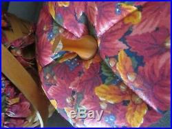 Set 4 Longaberger Pumpkin 1995-1997 Basket Fabric Lids Protectors Fall Foliage