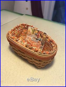 Set of 4 LONGABERGER Halloween Pumpkin and Candy Corn Baskets NEW