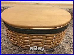 Set of 5 Longaberger Collectors Club Harmony Stacking Baskets Lids Protectors