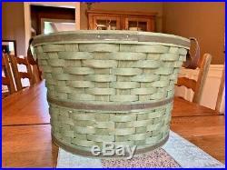 Set of Three Rare Longaberger Bushel Baskets in Leaf Green