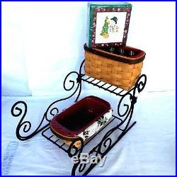 Longaberger Christmas Basket.Longaberger Basket Set Blog Archive Wrought Iron Sleigh